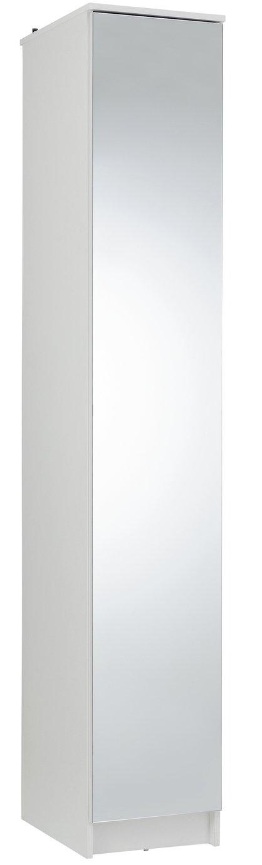 Argos Home Cheval Gloss Single Mirrored Wardrobe - White