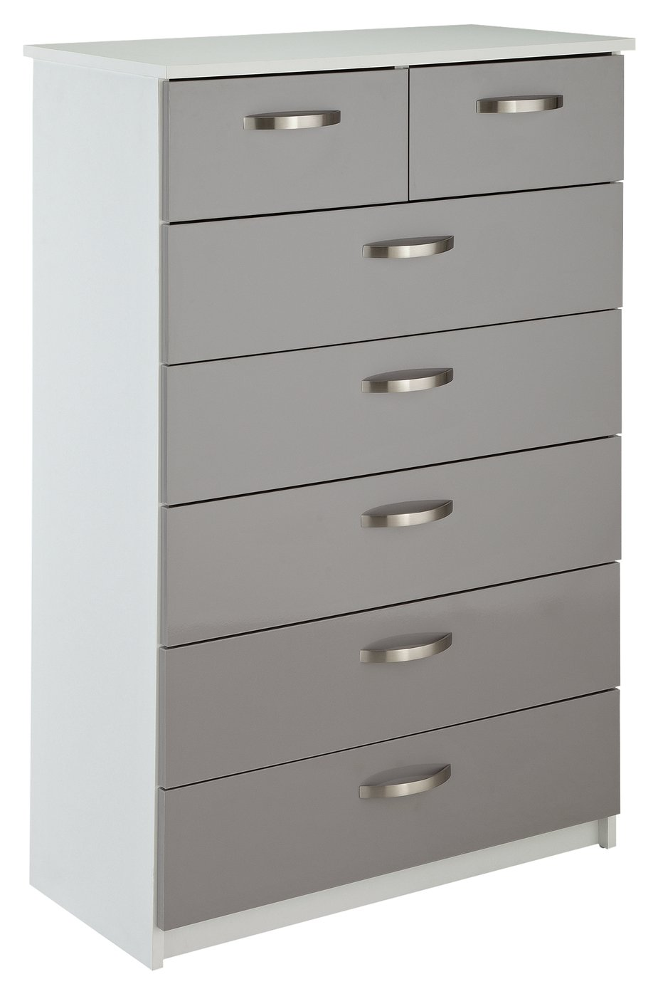 Argos Home Cheval Gloss 5+2 Drawer Chest of Drawers - Grey