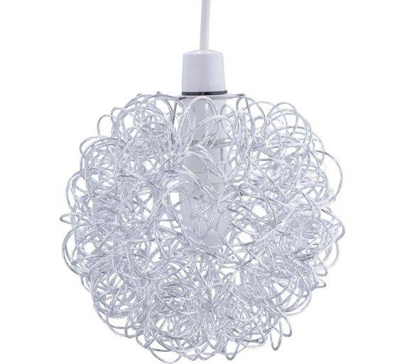 Buy home scribble aluminium ball shade chrome lamp shades argos home scribble aluminium ball shade chrome aloadofball Image collections