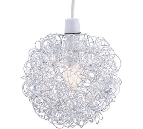 Buy argos home scribble aluminium ball shade chrome lamp shades click to zoom aloadofball Images