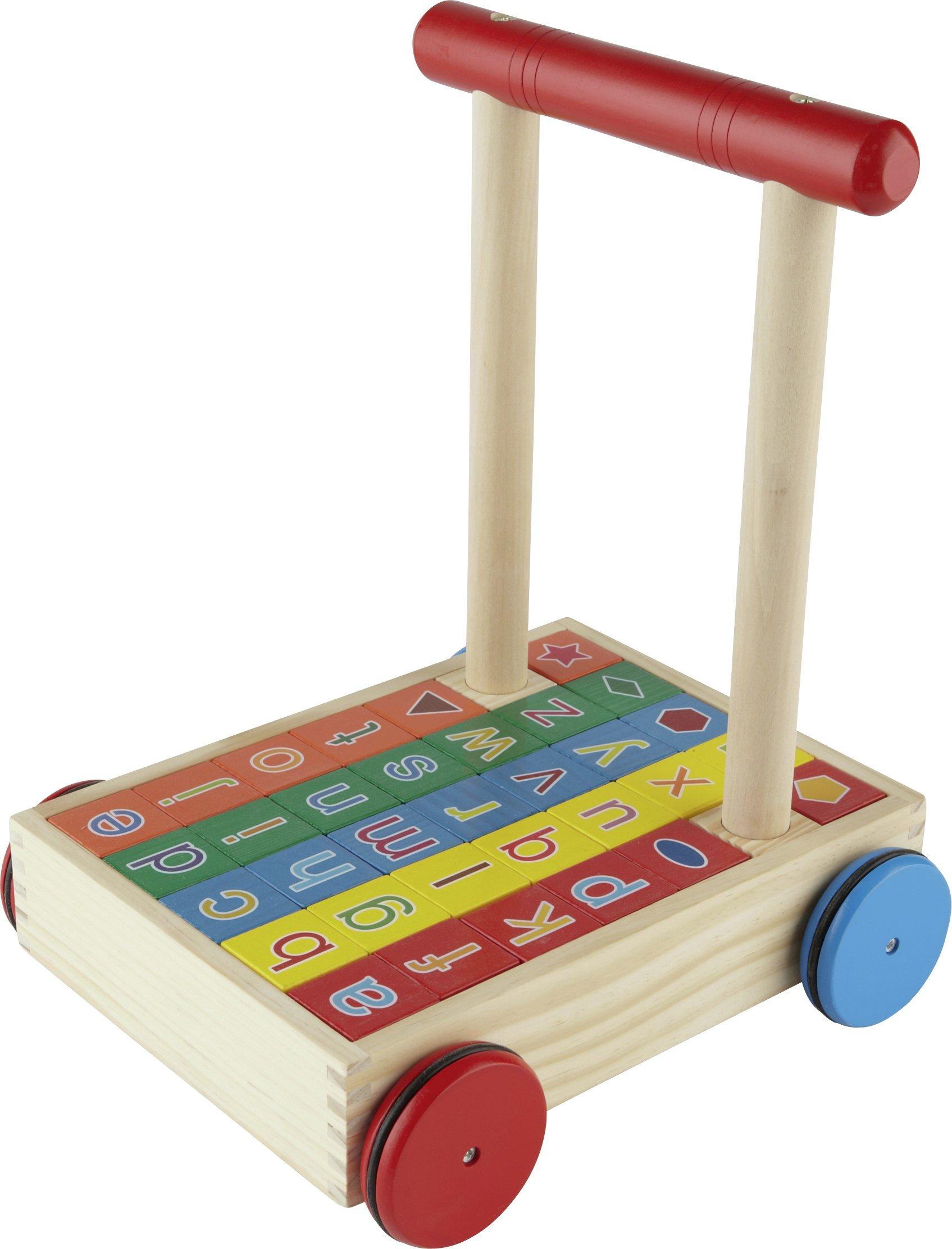 Chad Valley Playsmart Wooden Alphabet Trolley 9147184