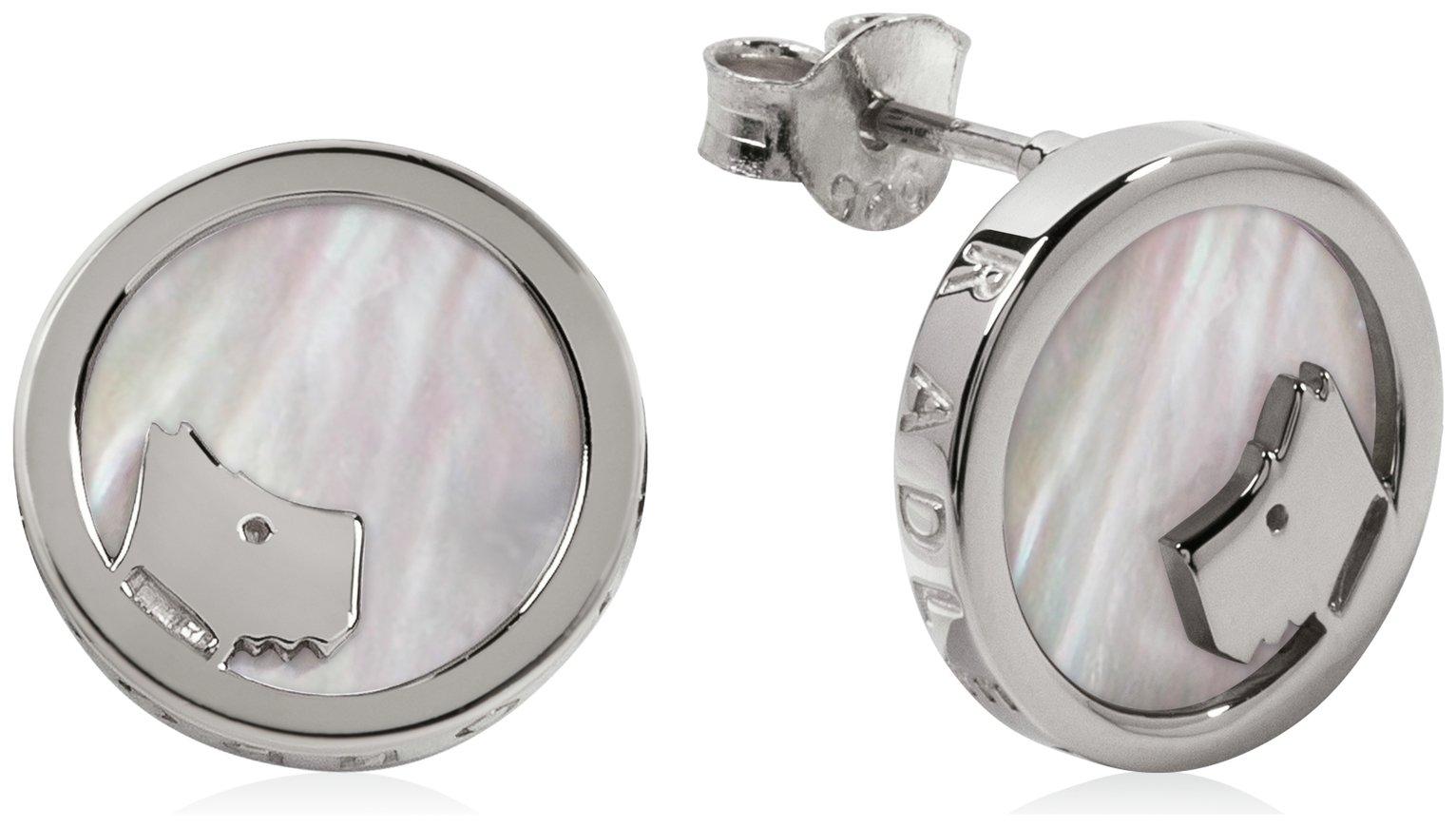 Radley London Round Stone-Set Pearl Stud Earrings