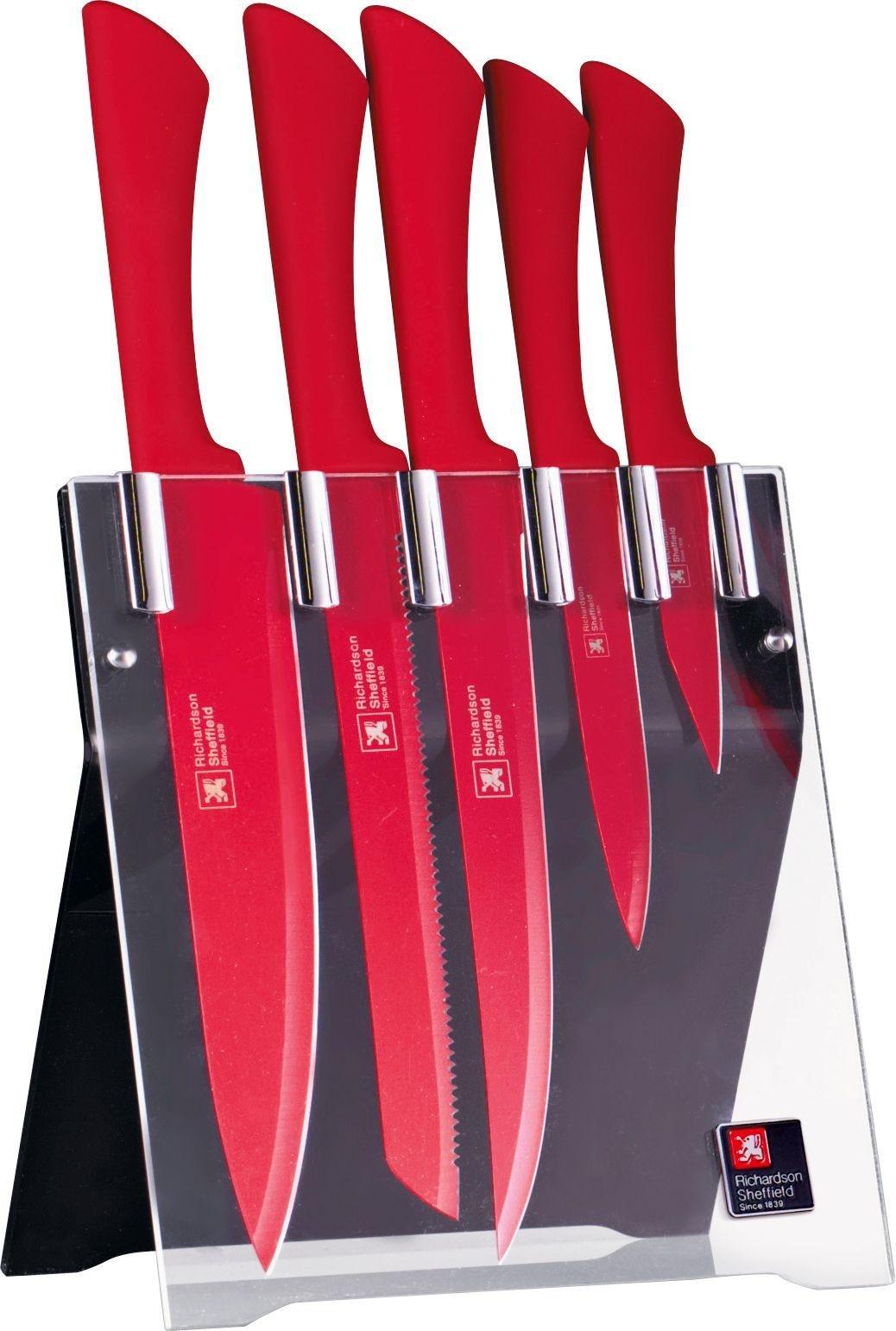 Richardson 5 Piece Knife Block Set   Red