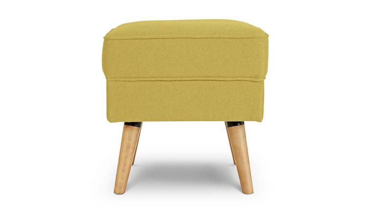 Argos Home Callie Fabric Footstool - Mustard Yellow