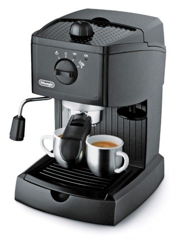 de 39 longhi ec145 espresso cappuccino maker black coffee. Black Bedroom Furniture Sets. Home Design Ideas
