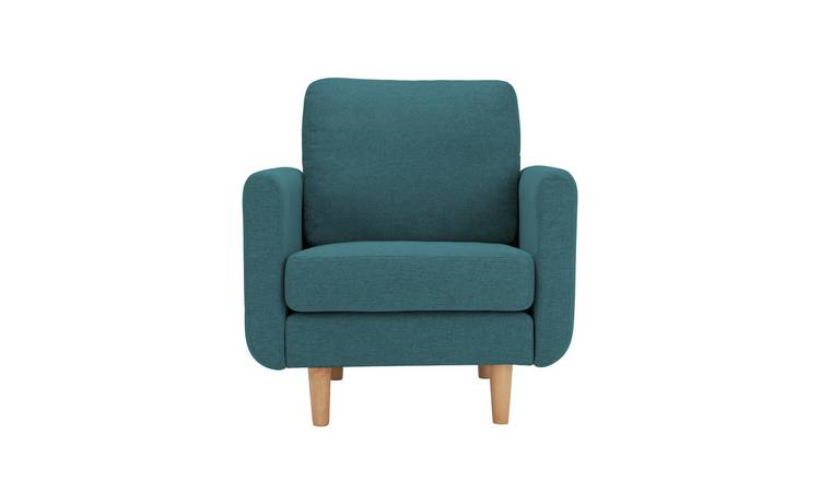 Habitat Remi Fabric Armchair in a Box -Teal