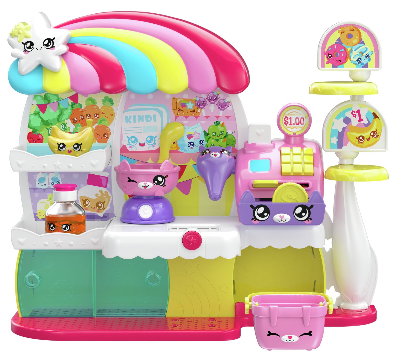 Kindi Kids Kitty Petkin Supermarket with Playmat - Shopkins