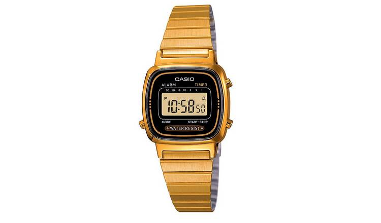Casio Ladies Gold Coloured Stainless Steel Bracelet Watch