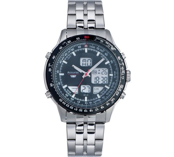 Accurist Skymaster Mens' Stainless Steel Watch