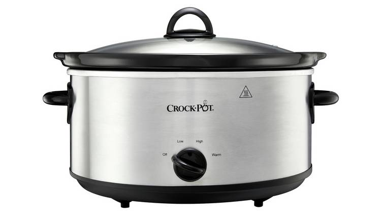 Crock-Pot 5.6L Slow Cooker - Stainless Steel