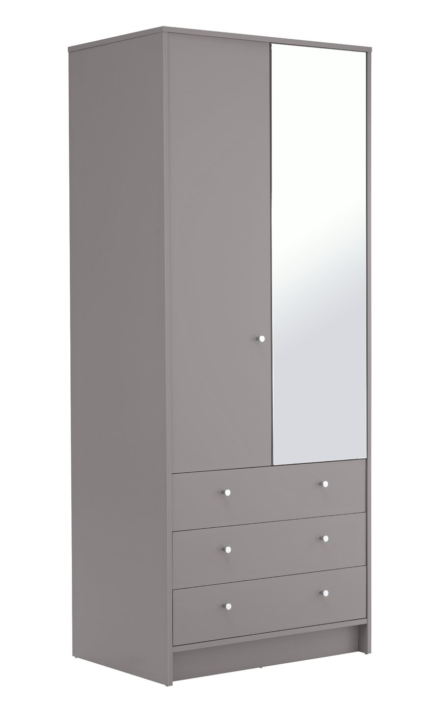 Argos Home Malibu 2 Door 3 Drawer Mirrored Wardrobe