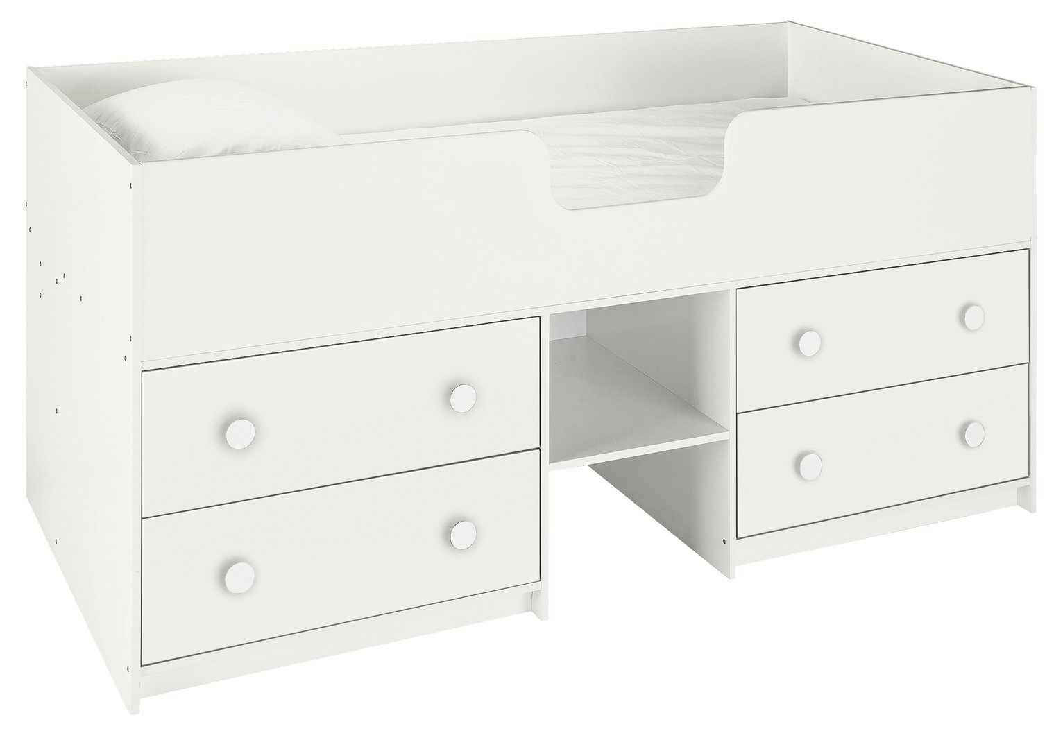 Argos Home Jackson White Shorty Cabin Bed Frame