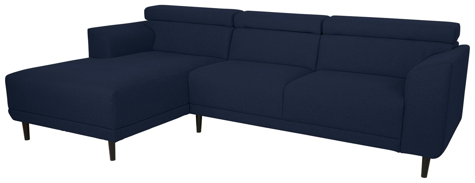 Argos Home Jonas Left Corner Fabric Sofa - Navy