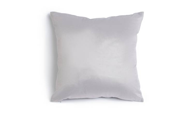 Habitat Supersoft Velvet Cushion - Grey