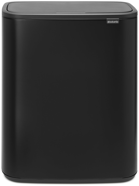 Brabantia 2 x 30 Litre Bo Soft Touch Top Bin - Matte Black
