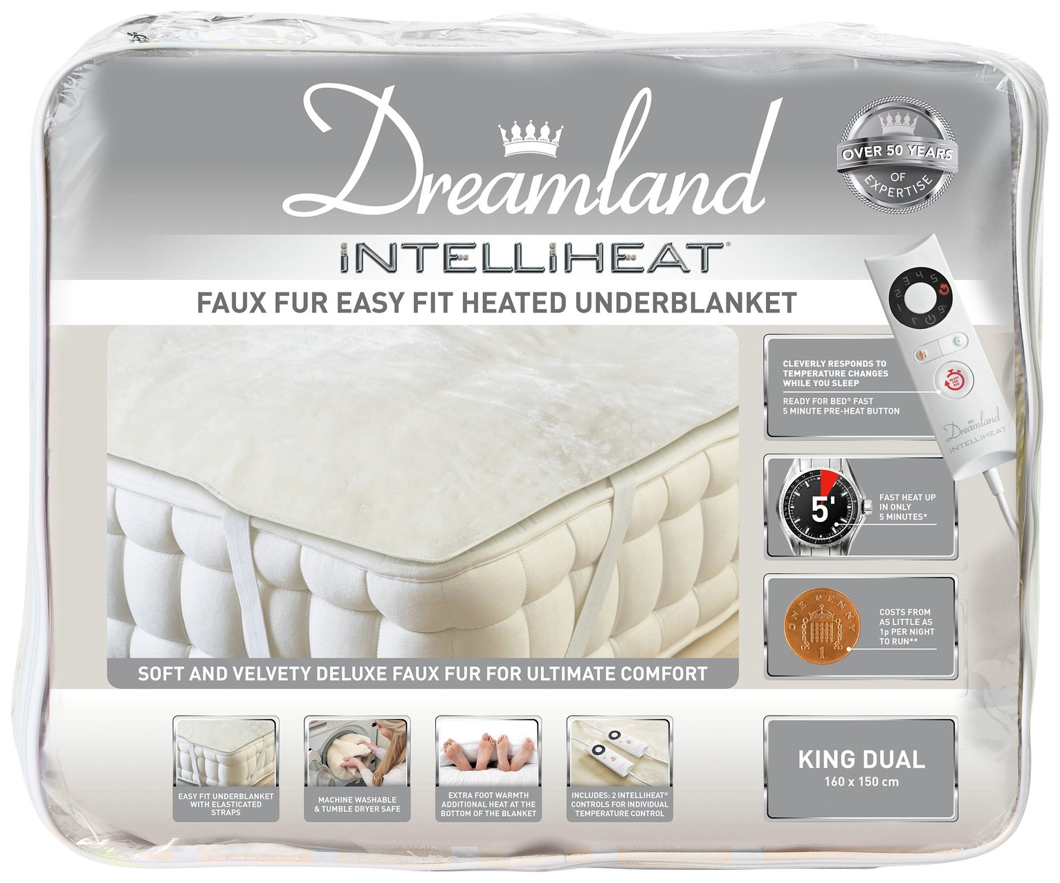 Dreamland Intelliheat Dual Electric Underblanket - King
