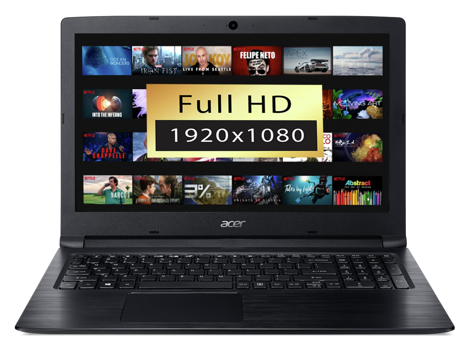 Acer Aspire 3 15.6 Inch AMD A9 4GB 1TB FHD Laptop - Black