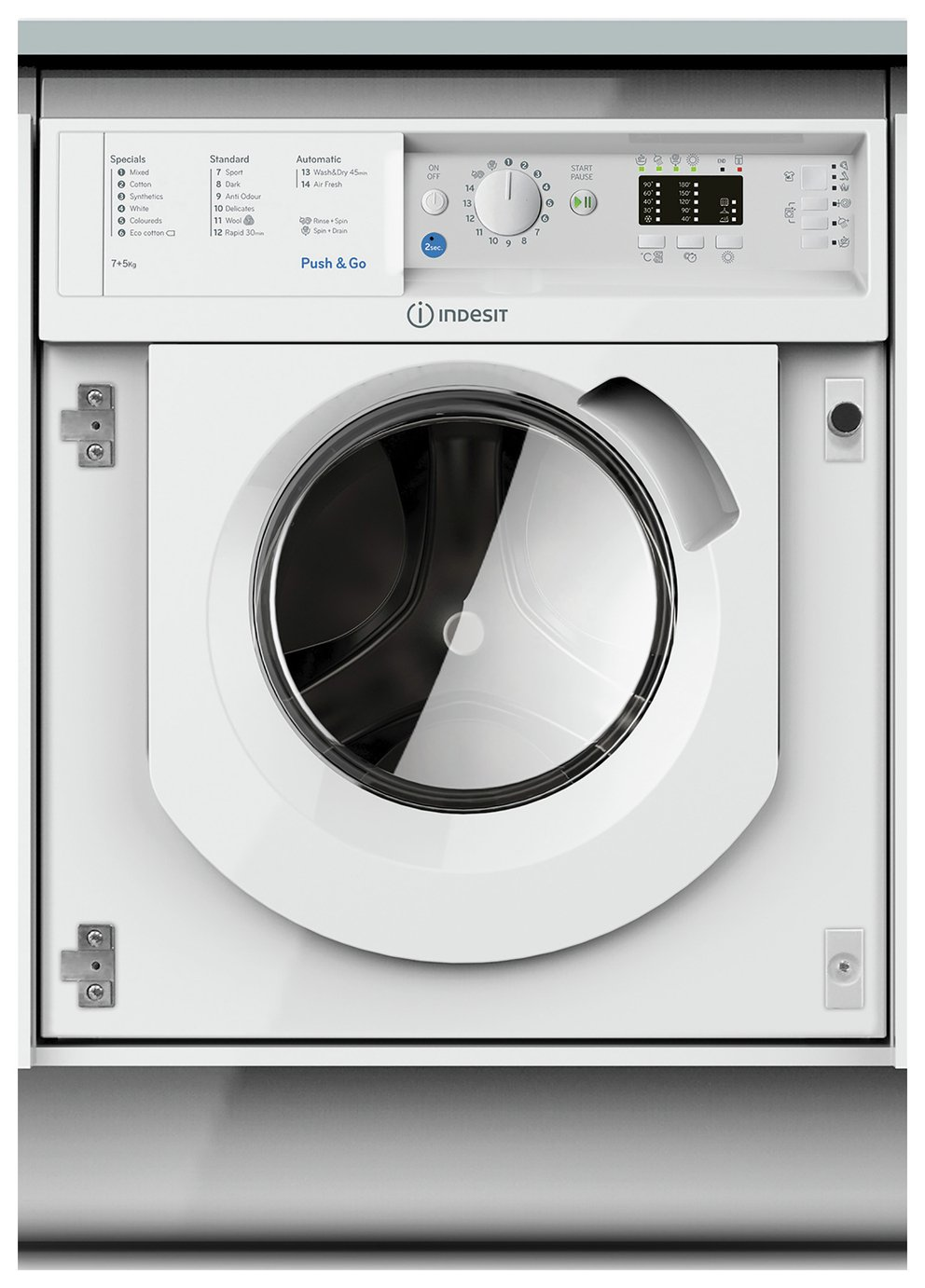 Indesit BIDIL7125 7KG / 5KG 1200 Spin Washer Dryer - White