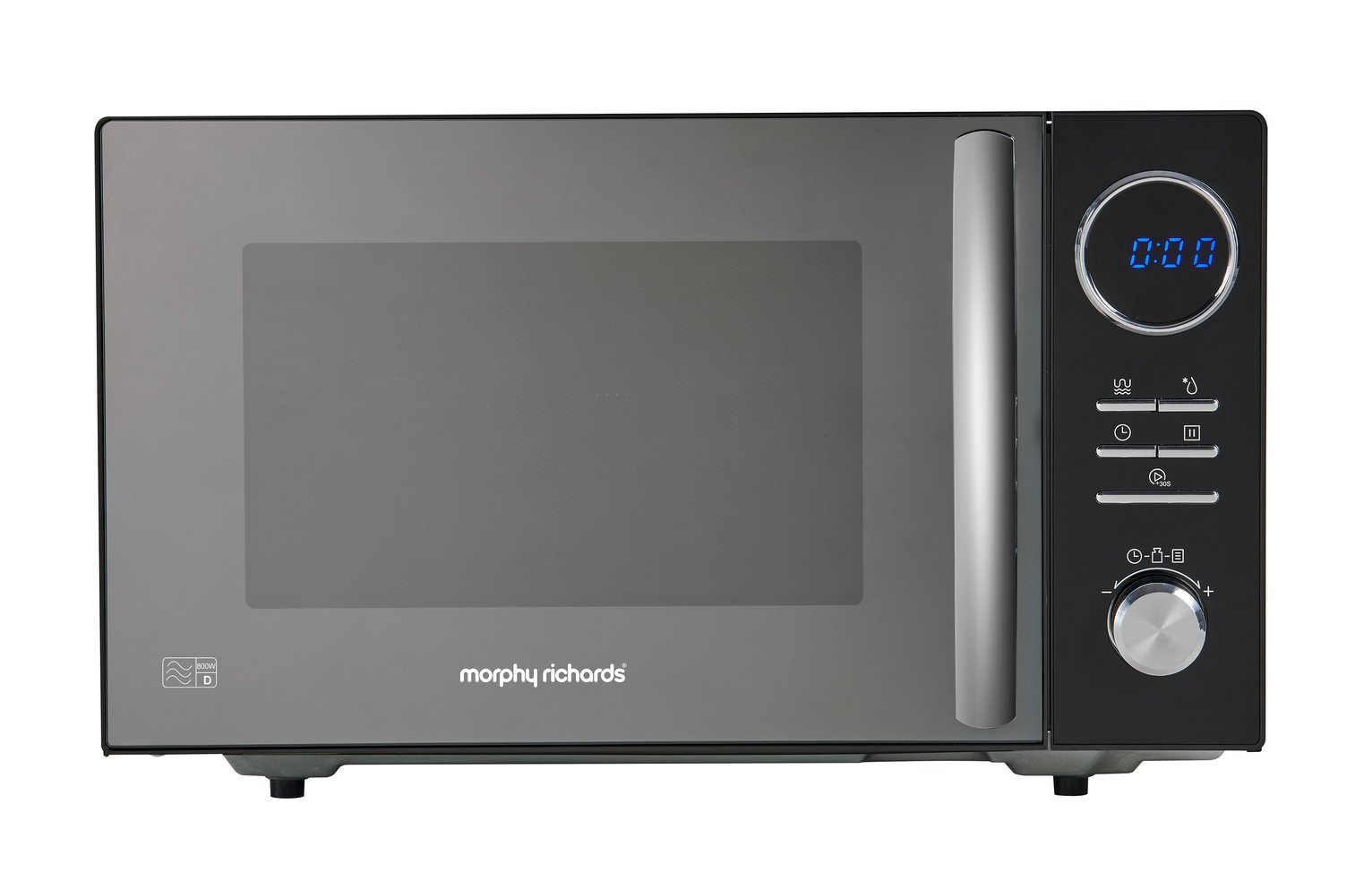 Morphy Richards 800W Microwave with Grill - Black