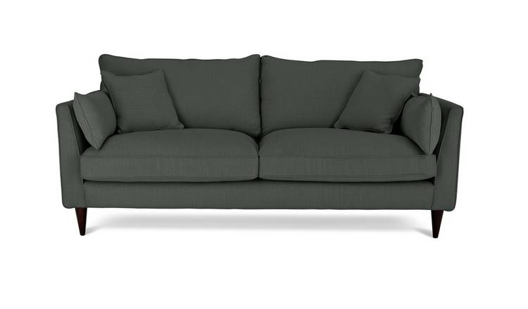 Habitat Hector 3 Seater Fabric Sofa - Charcoal Linen