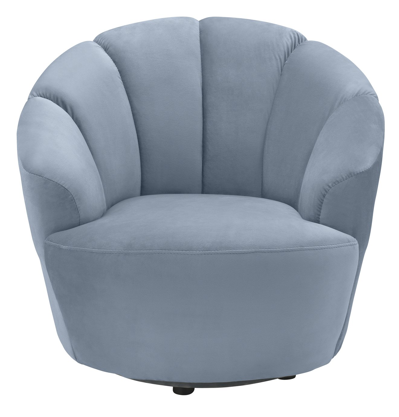Argos Home Ezra Velvet Swival Chair - Light Blue
