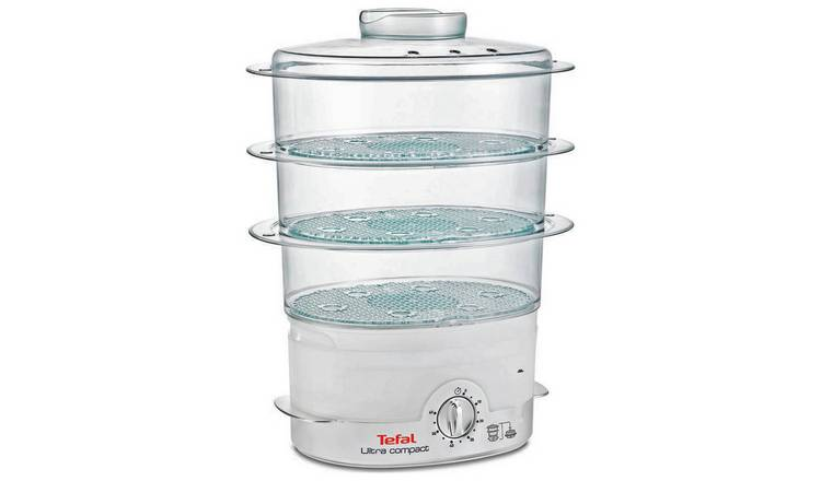 Tefal Ultra VC100665 Compact 3 Tier Steamer - White