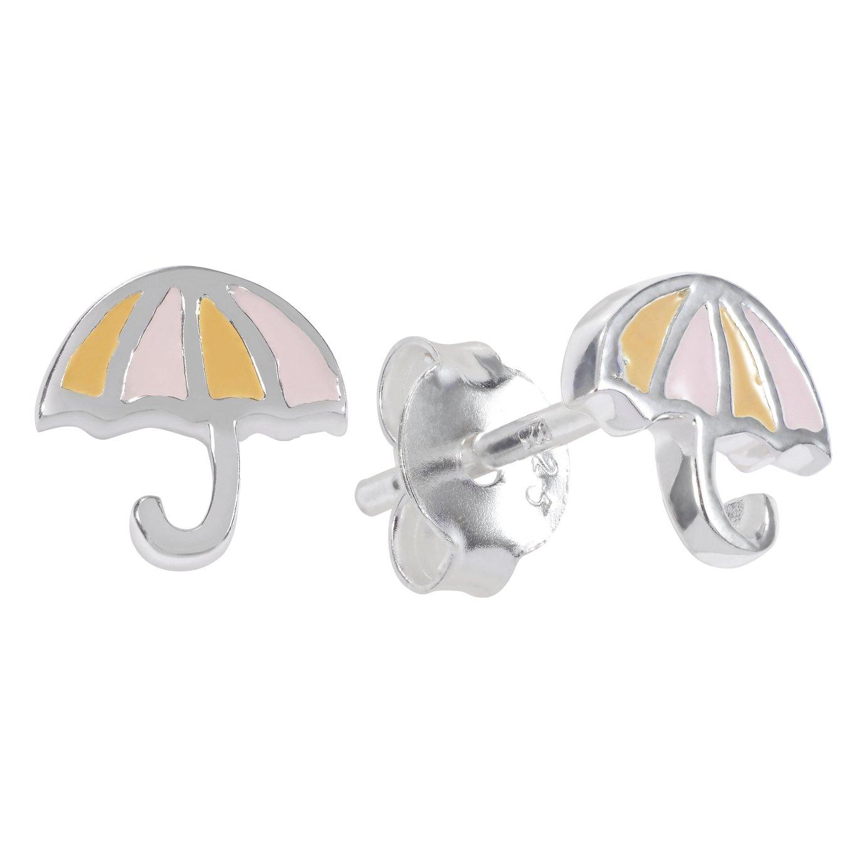 Revere Sterling Silver Enamel Umbrella Stud Earrings