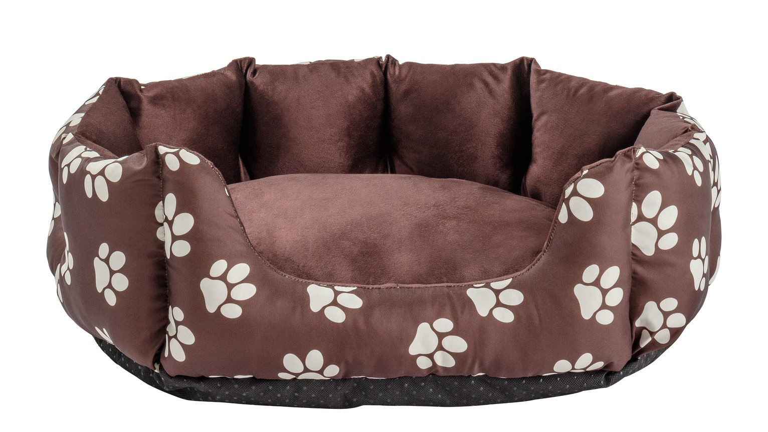 Paw Print Oval Pet Bed - Small