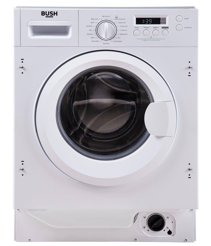 Bush WDSAEINT86 7KG/8KG 1400 Spin Washer Dryer - White