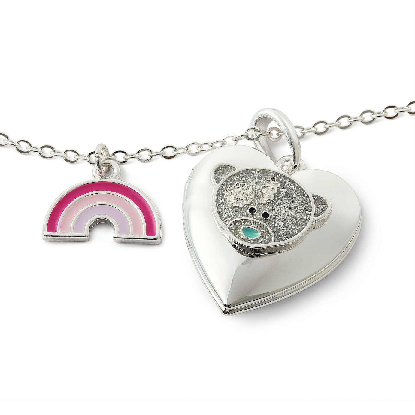 Me to You Silver Plated Rainbow Heart Shaped Locket