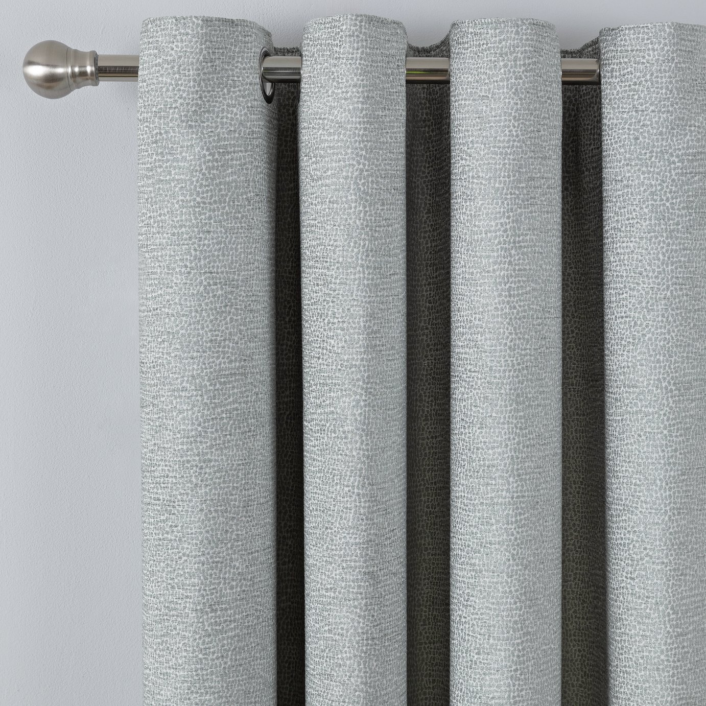 Argos Home Chenille Lined Eyelet Curtains - Duck Egg