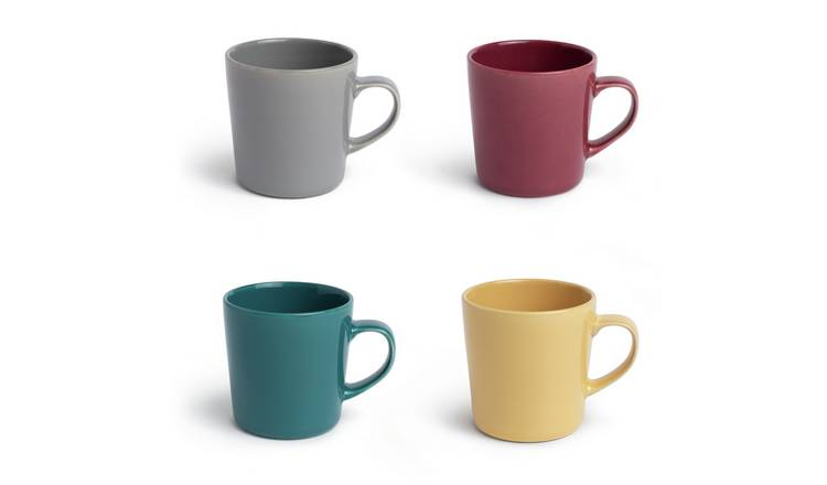 Habitat Colour Glaze set of 4 Mugs