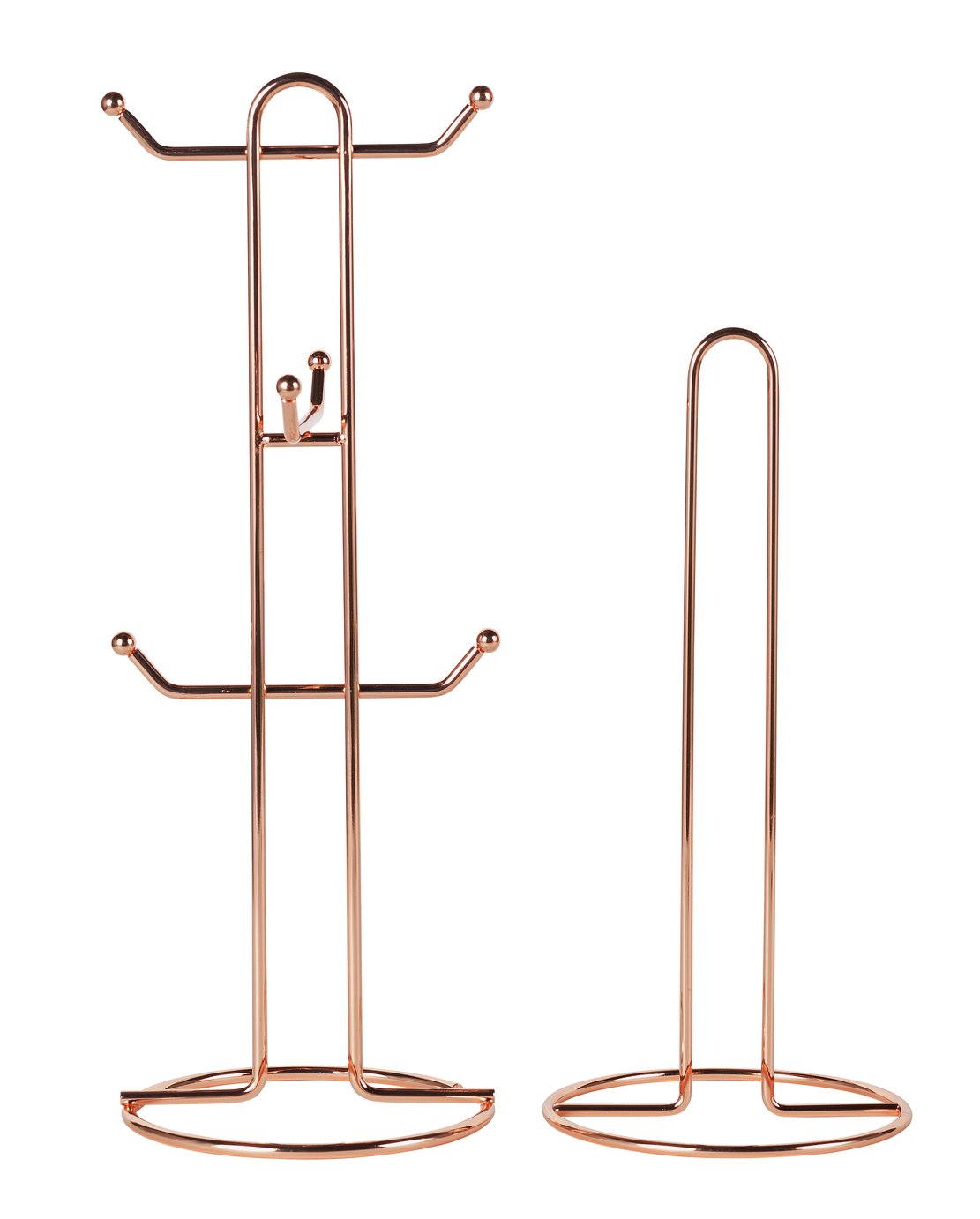 Argos Home Mug Tree and Kitchen Roll Holder - Rose Gold
