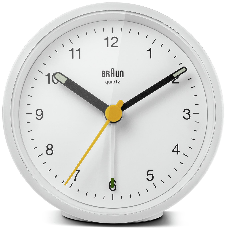 Braun Classic Analogue Alarm Clock - White