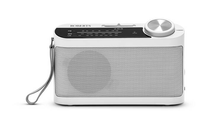 Roberts R9993 FM Portable Radio - White
