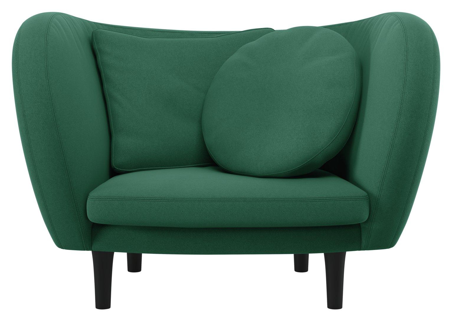 Habitat Arya Green Fabric Armchair