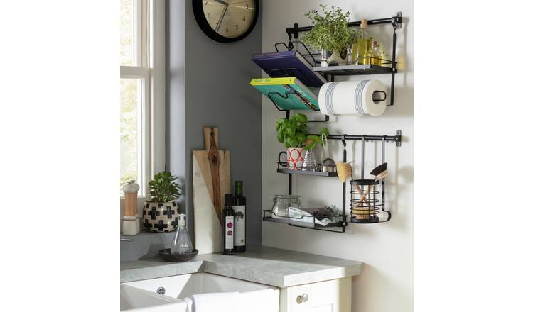 Buy Argos Home Wall Mounted Storage System Kitchen Shelves And Stands Argos