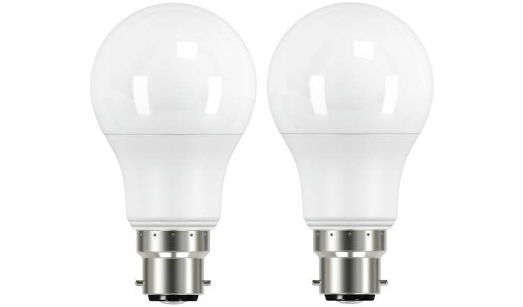 Argos Home 8W LED BC Light Bulb - 2 Pack