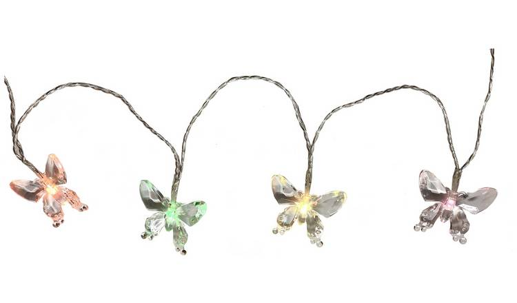 Argos Home 20 Colour Changing Butterfly Solar String Lights