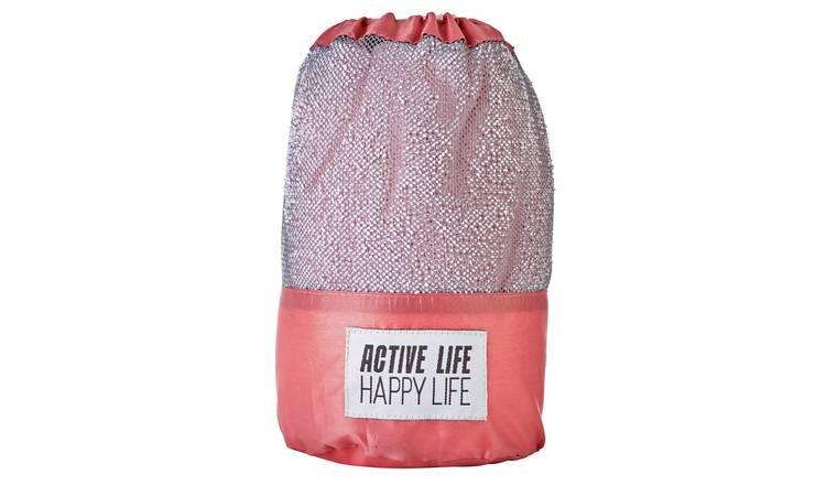 Buy Active Life Happy Life Sports Towel Pink Towels Argos