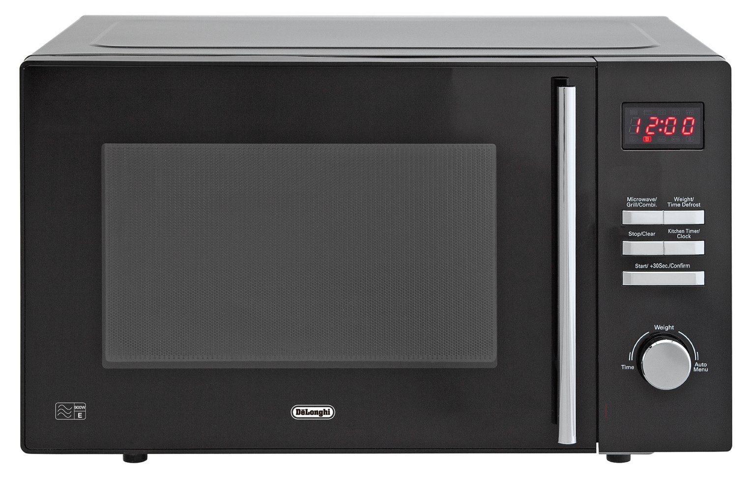 De'Longhi 900W Microwave with Grill AM820C - Black