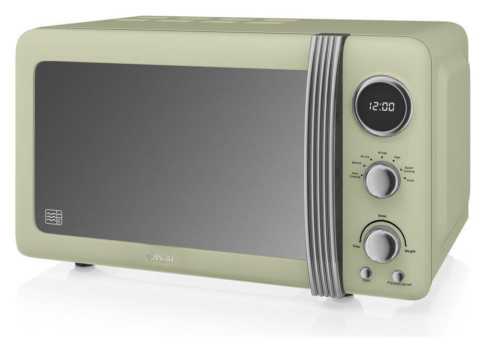 Swan 800W Standard Microwave SM22030GN - Green