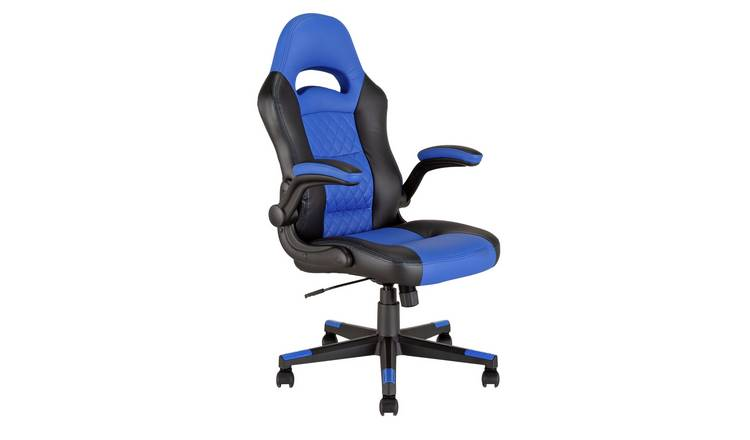 Buy Argos Home Raptor Faux Leather Ergonomic Gaming Chair Blue | Gaming chairs | Argos