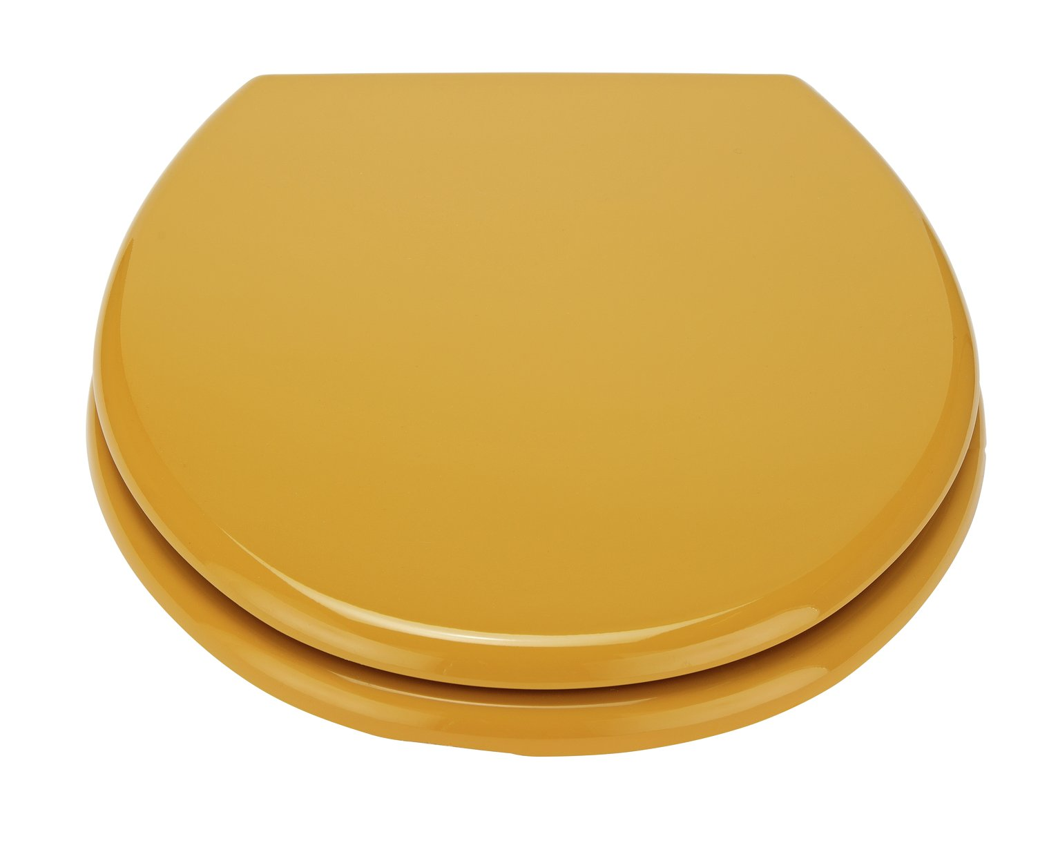 Argos Home Moulded Wood Toilet Seat - Mustard