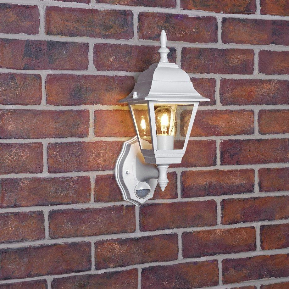 Argos Home Classic 4 Panel White PIR Lantern