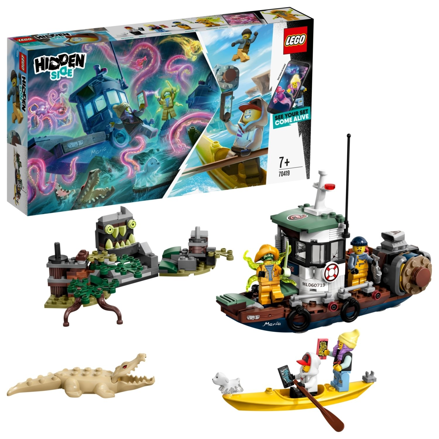 LEGO Hidden Side Wrecked Shrimp Boat - 70419