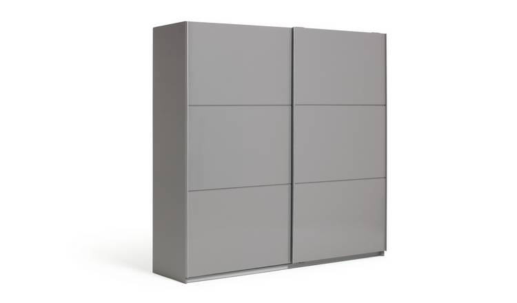 Habitat Holsted Grey Gloss Extra Large Sliding Wardrobe