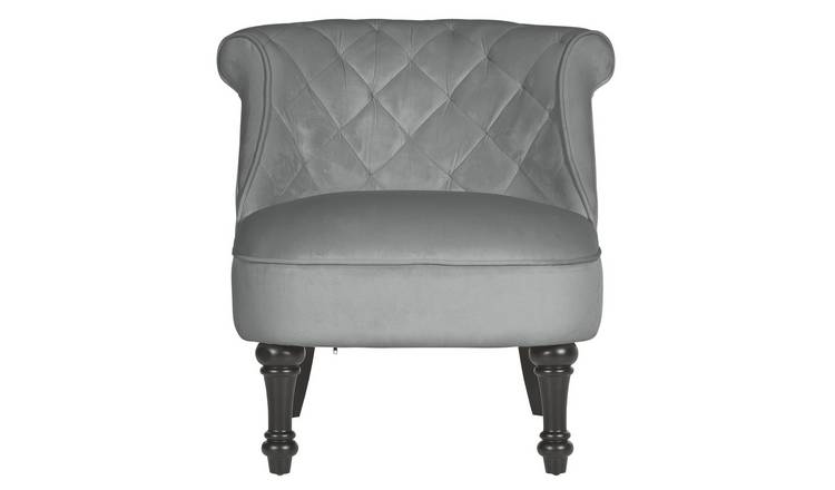 At Home Accent Chairs.Buy Argos Home Mika Quilted Velvet Accent Chair Grey Armchairs And Chairs Argos
