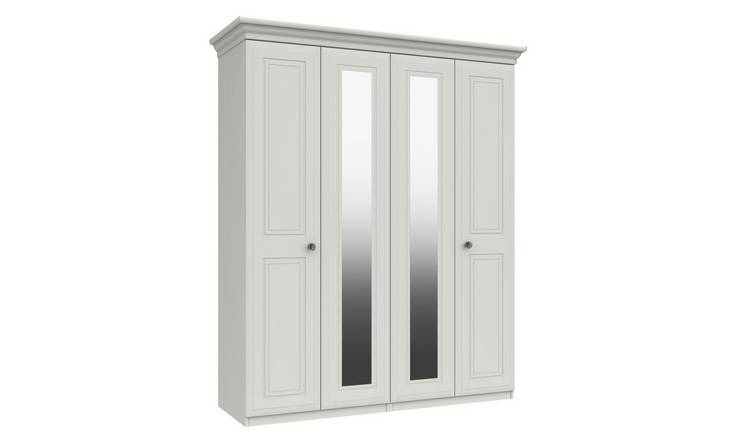 Rendlesham 4 Door 2 Mirror Wardrobe - White