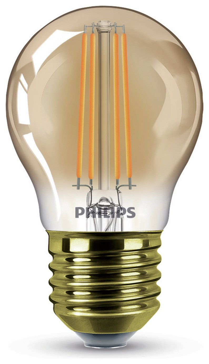 Philips LED Filament E27 5W (32W) Dimmable Light Bulb - Gold